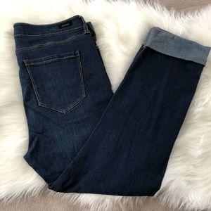 Liverpool Blue Capri Cuffed Skinny Jeans 12